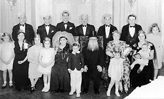 Mnachem Risikoff - 50th Wedding Anniversary, 1938.