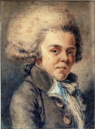 Pierre-Jean-Baptiste Chaussard - Portrait of Antoine de Rivarol. Before the Revolution, Chaussard printed an Ode on the devotion of the duke of Brunswick, and figured in Rivarol's Petit Almanach.