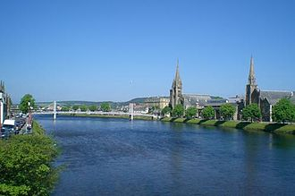 River Ness - River Ness looking downstream towards the Greig St Bridge