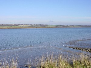 River Crouch - View of River Crouch near Canewdon, Essex looking towards Bridgemarsh Island and Althorne.