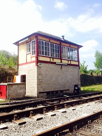 Peak Rail - Ex-Luffenham signalbox now Matlock Riverside