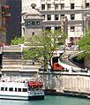 Riverwalk segment at Northeast side of Michigan Avenue Bridge 2006-06-05.jpg