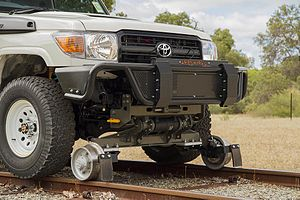 Hunting oscillation - Independent rail wheel axles are common on road-rail vehicles