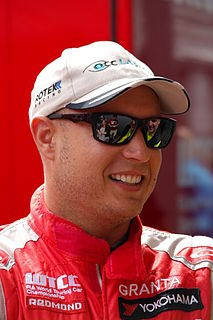 Robert Huff British racing driver.