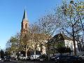 Robertsau-Eglise et presbytère protestants.JPG