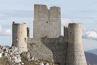 Ladyhawke (film) - The castle of Rocca Calascio in Abruzzo, where the priest hosts the protagonists to treat them.