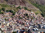Located between some of the richest areas of Rio de Janeiro, the Rocinha favela is testimony to high economic inequality within Brazil.
