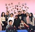 Roger Kupelian with the Wikipedians of Stepanakert WikiClub.jpg