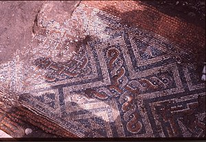 Isca Dumnoniorum - Image: Roman mosaic under St Catherine's, Exeter geograph.org.uk 1140583