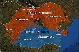 Moldavian dialect - Major varieties (graiuri) of the Romanian language