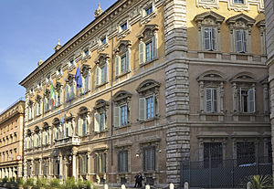Italian constitutional referendum, 2016 - Palazzo Madama, the meeting place of the Italian Senate.