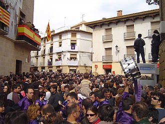 Lower Aragon - Holy Week celebrations with drums in Calanda.