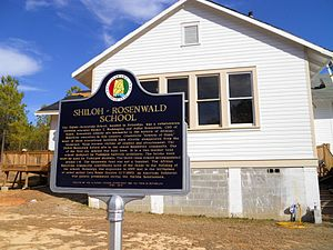 Shiloh Missionary Baptist Church and Rosenwald School - The Shiloh school is the only Rosenwald School that remains in Macon County.