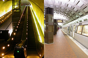 State of Play (film) - Image: Rosslyn with escalator