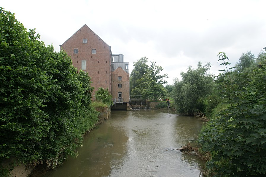 Rotselaar (Belgium): The Rotselaar Water Mill at the Winge River