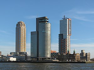 Rotterdam - Tower blocks in the Kop van Zuid neighbourhood
