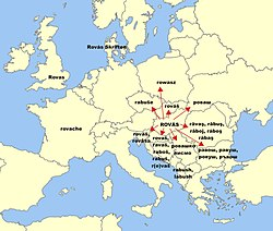 Rovas in European languages.jpg