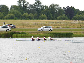 Germany at the 2012 Summer Olympics - Men's team rowing to gold in the quadruple sculls final.