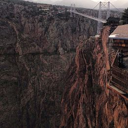 Royal Gorge Bridge, from Zip Line, Summer 2012.jpg
