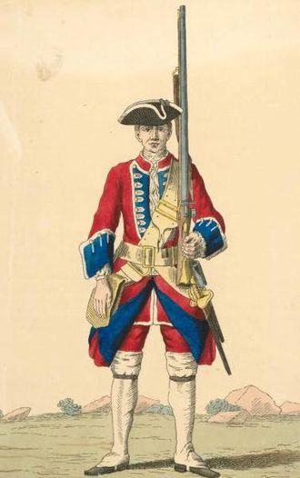 Royal Scots - Soldier of the Royal Regiment of foot, 1742