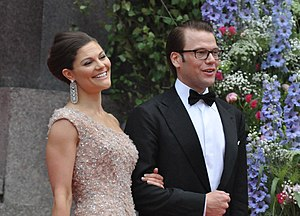Wedding of Victoria, Crown Princess of Sweden, and Daniel Westling - Crown Princess Victoria and Daniel Westling arriving to the Riksdag's Gala Performance at the Concert Hall on 18 June