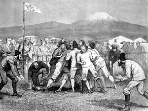 Rugby football game in Yokohama, 1874 Rugby football japan.jpg