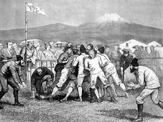 Japan national rugby union team - Rugby football game in Yokohama, 1874
