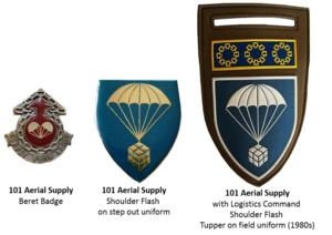 101 Air Supply Unit SAOSC - SADF era 101 Aerial Supply insignia