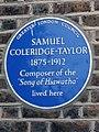 SAMUEL COLERIDGE-TAYLOR 1875-1912 Composer of the 'Song of Hiawatha' lived here.jpg