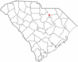 Location of McBee, South Carolina