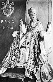 Le pape Pie X après son élection.