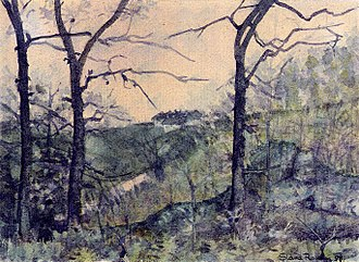 Slava Raškaj - A view of Osalj (1898)