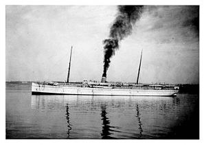 SS Parthia (1870) - The SS Victoria with her hull painted white.