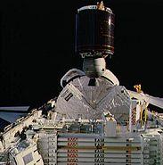 STS-61-B Morelos-B deployment