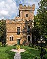 Saalfeld Wetzelstein 1 Villa Wetzelstein mit Ausstattung, Parkanlage und Parkarchitekturen, Brunnenbecken, Bogenbrücke (Aussichtspunkt).jpg