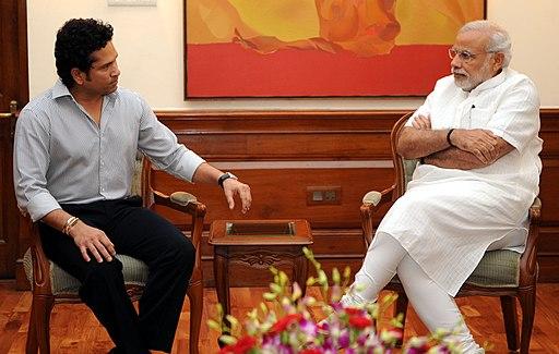Sachin Tendulkar meets PM Modi
