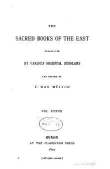 Sacred Books of the East - Volume 37.djvu