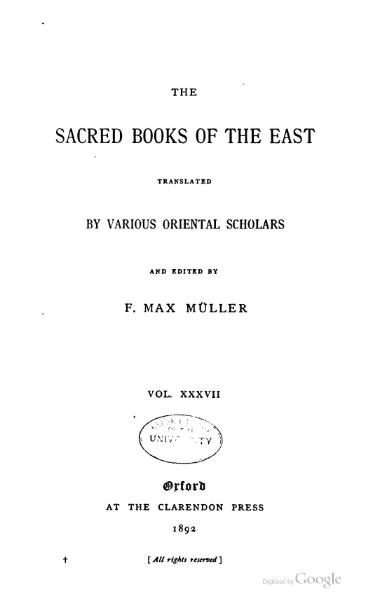 File:Sacred Books of the East - Volume 37.djvu