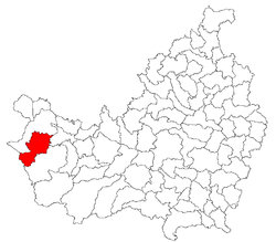 Location of Săcuieu