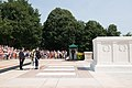 Saenuri Party Chairman Kim Moo Sung lays a wreath at the Tomb of the Unknown Soldier at Arlington National Cemetery (19407597234).jpg