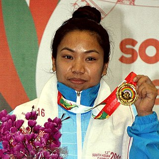 Saikhom Mirabai Chanu Indian weightlifter