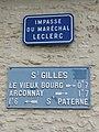 Saint-Paterne (Sarthe) Saint-Gilles, plaque de cocher 01.jpg