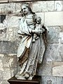 Saint-Quentin (02), basilique St-Quentin, grand croisillon nord, statue de la Vierge à l'Enfant, attribuée à Bouchardon, XVIIIe siècle.jpg