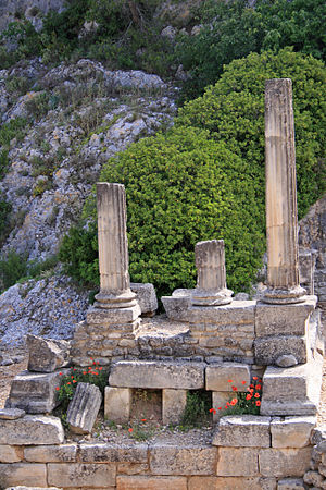 Glanis - The Temple of Valetudo, about 39 BC, in Glanum.
