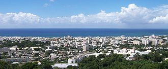 Saint-Denis, Réunion - Panoramic view of the city from the heights of Bellepierre