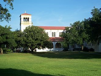 Saint Leo University - Saint Leo Abbey Church seen from Saint Leo University