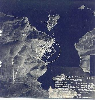 Salamis Naval Base - Aerial bombing of occupied Salamis Naval Dock, September 1944