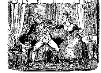 Sally Salisbury - 18th century illustration of Salisbury stabbing Finch.