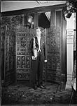 Sam Babicci holding saxophone (4623731124).jpg