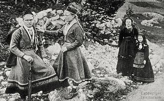 Feminism in Norway - Sami girls in Telemark County, Norway, in 1880.
